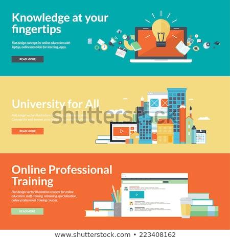 Staff Training Icon. Business Concept. Flat Design. Stock photo © WaD