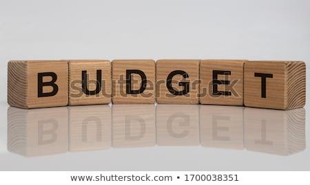 予算 言葉 ビジネスマン 登る 男 背景 ストックフォト © fuzzbones0