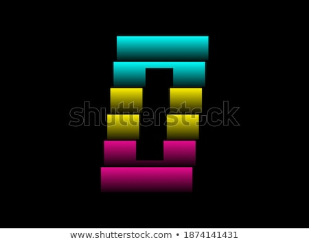 0 Number Vector Pink Web Icon Stock photo © rizwanali3d