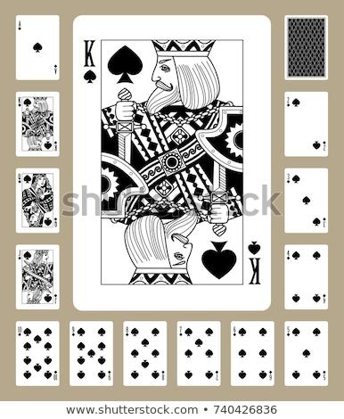 Cinquième jouer carte blanche rouge Photo stock © Bigalbaloo