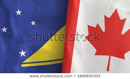 Kanada bayraklar bilmece yalıtılmış beyaz iş Stok fotoğraf © Istanbul2009