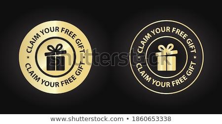 Free Services golden Vector Icon Design Stock photo © rizwanali3d