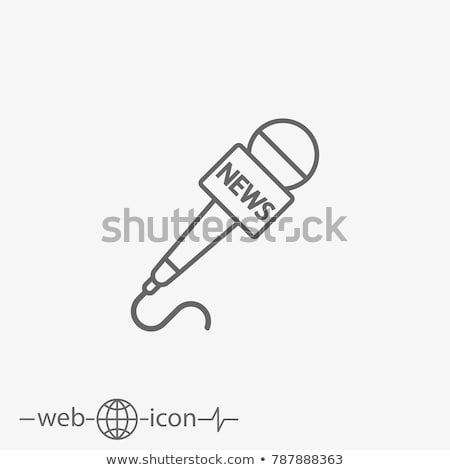 News Microphone Icon Stock photo © Lightsource