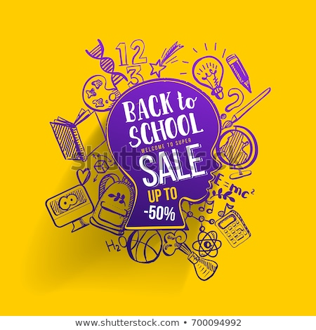 back to school   hand drawn on green chalkboard stock photo © tashatuvango