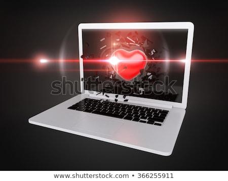 red Heart destroy laptop stock photo © teerawit