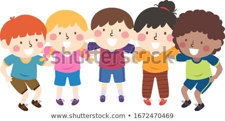 Young Kids Huddled Together Stock photo © zurijeta