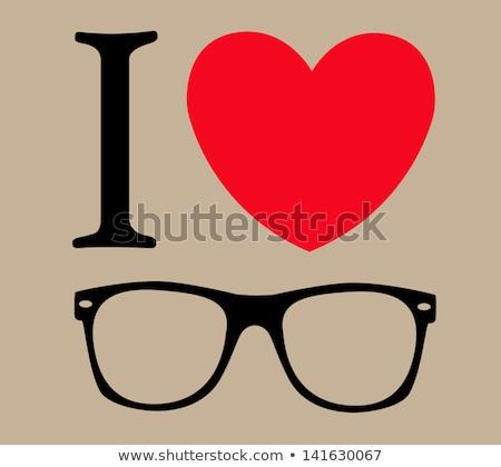 I love fashion with colorful eye wear  Stock photo © shawlinmohd