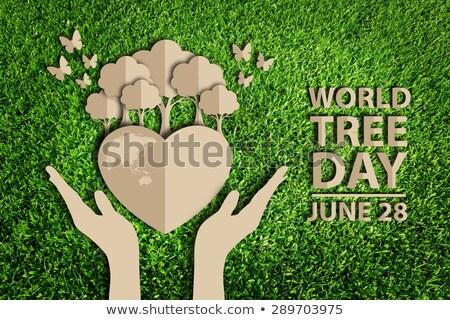 World tree day june 28  Stock photo © shawlinmohd