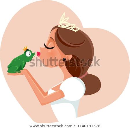 béka · herceg · illusztráció · aranyos · rajzfilmfigura · visel - stock fotó © sifis