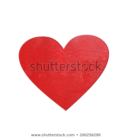 Empty card with red hearts isolated on white Stock photo © MikhailMishchenko
