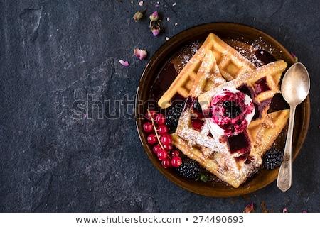 Bessen saus klein vierkante schotel vruchten Stockfoto © Digifoodstock
