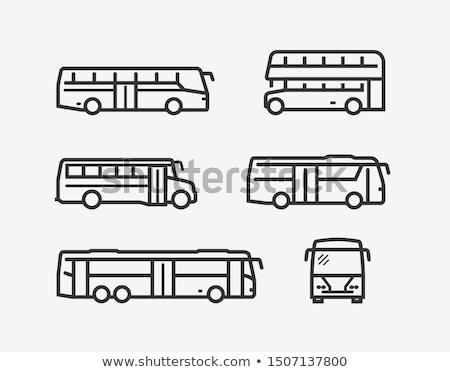 Сток-фото: автобус · набор · дизайна · иконки · изолированный