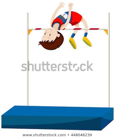 Man atleet hoogspringen illustratie sport achtergrond Stockfoto © bluering