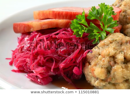 tyrolean dumplings with red kraut stock photo © digifoodstock