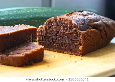 Courgettes gâteau au chocolat chocolat tarte préparé or Photo stock © georgemuresan