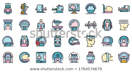 Ultrasound diagnostic machine icon Stock photo © angelp
