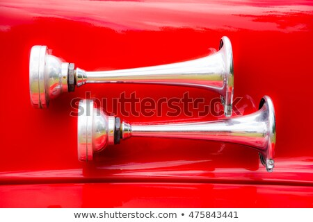 Stock photo: Vintage Signal Horn On A Historic Fire Truck
