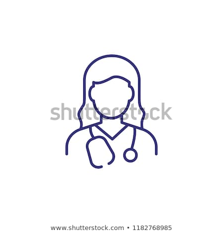 Stock photo: Doctors and medical workers flat simple avatars