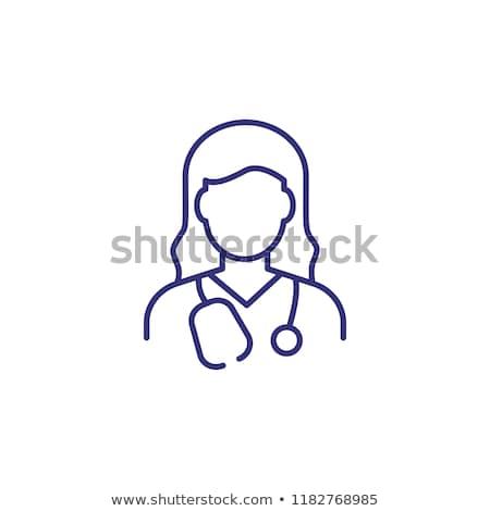 işgal · iş · kadın · doktor · çalışmak · saç - stok fotoğraf © vectorikart
