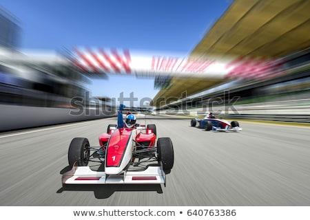 blue sport race car Stock photo © ssuaphoto