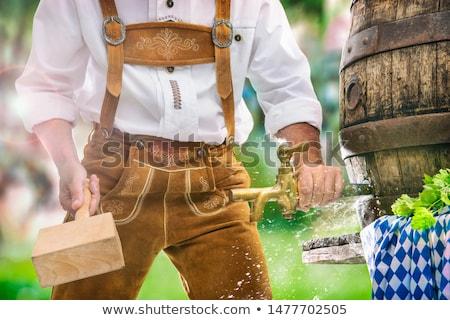 Oktoberfest Bier Barrel Illustration funny Tasse Stock foto © adrenalina