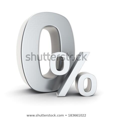 Metal pari a zero cento grigio segno isolato Foto d'archivio © Oakozhan