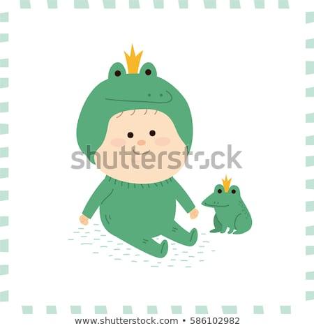 cute frog prince Stock photo © adrenalina
