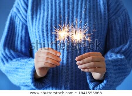 blue sparkler Stock photo © blackmoon979