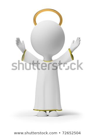 3d small people   god stock photo © anatolym