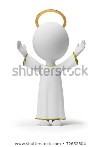 Zdjęcia stock: 3d Small People - God
