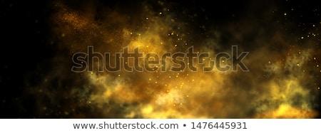 Uçan altın star uçuş parlak Yıldız Stok fotoğraf © blackmoon979