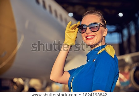 Cabin crew working in airline Stock photo © bluering