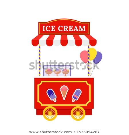 bike of icecream on white background Stock photo © Istanbul2009