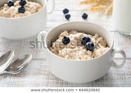 Oatmeal with blueberries Stock photo © fotogal