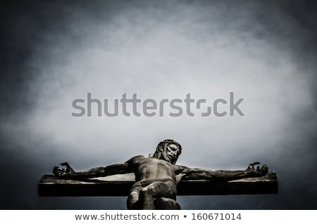 old cross with jesus christ from stone Stock photo © jarin13