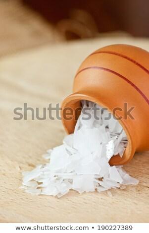 Magnézium tengeri só pelyhek étel tenger fehér Stock fotó © Kidza
