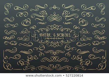 Golden decorative calligraphic design elements - vector set Stock photo © blue-pen