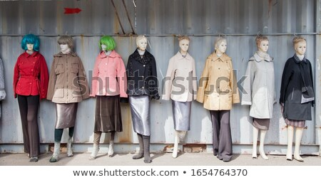 Tailor posing with mannequin Stock photo © dash