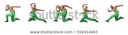 Сток-фото: прыжки · танцы · строительство · дискотеку · зеленый