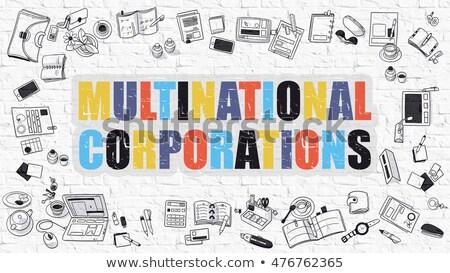 cooperazione · doodle · design · buio · muro - foto d'archivio © tashatuvango