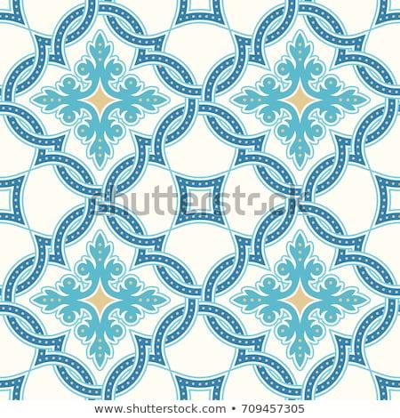 青 · アラビア語 · テクスチャ · 色 - ストックフォト © cienpies