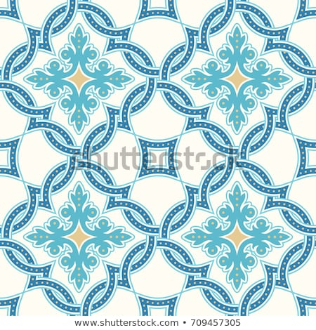 Retro seamless pattern muslim mosaic tile decoration Stock photo © cienpies