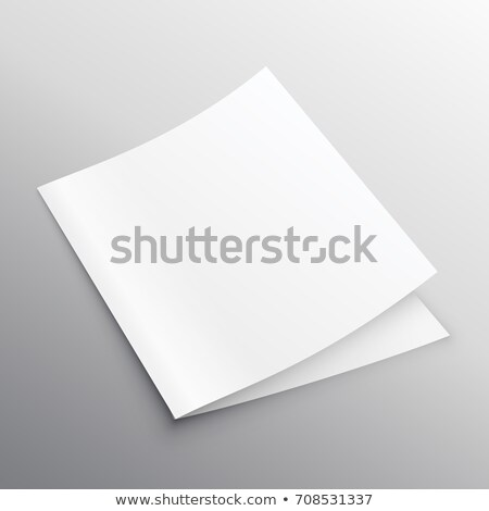 blank mockup bi-fold or book template vector design Stock photo © SArts