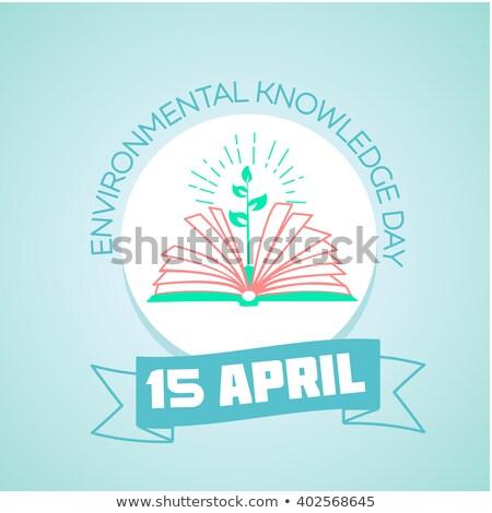 15 dia ambiental conhecimento calendário férias Foto stock © Olena