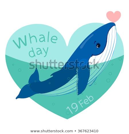 19 dünya balina gün takvim tebrik kartı Stok fotoğraf © Olena