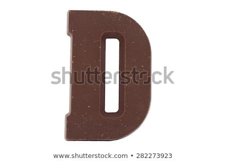 D betű cukorkák csokoládé kártyák gyerekek tanul Stock fotó © Olena