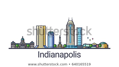 Flat line Indianapolis banner Stock photo © Yuriy