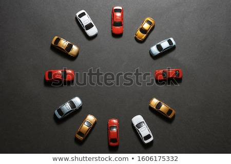 Parking beaucoup voitures illustration arbre route Photo stock © bluering