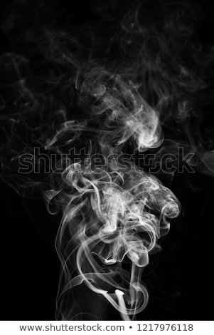 Movement of white smoke Stock photo © artjazz