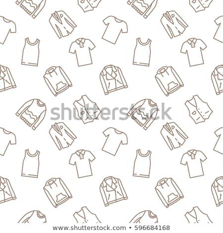 Tank tshirt lijn icon vector geïsoleerd Stockfoto © RAStudio